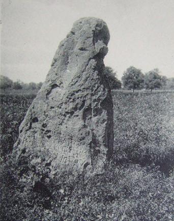 Photo du Monument Historique Menhir du Vieux-Poitiers situé à Naintré