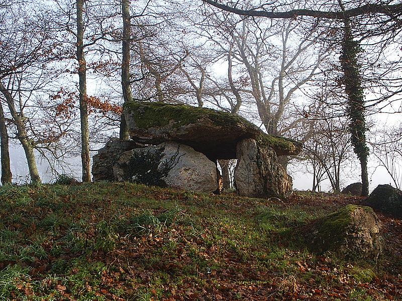 Photo du Monument Historique Dolmen de Chiroux dit La Pierre-Levée et son tumulus situé à Plaisance
