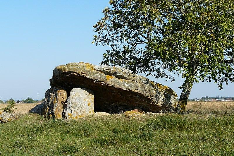 Photo du Monument Historique Dolmen de la Bie situé à Rochereau (Le)