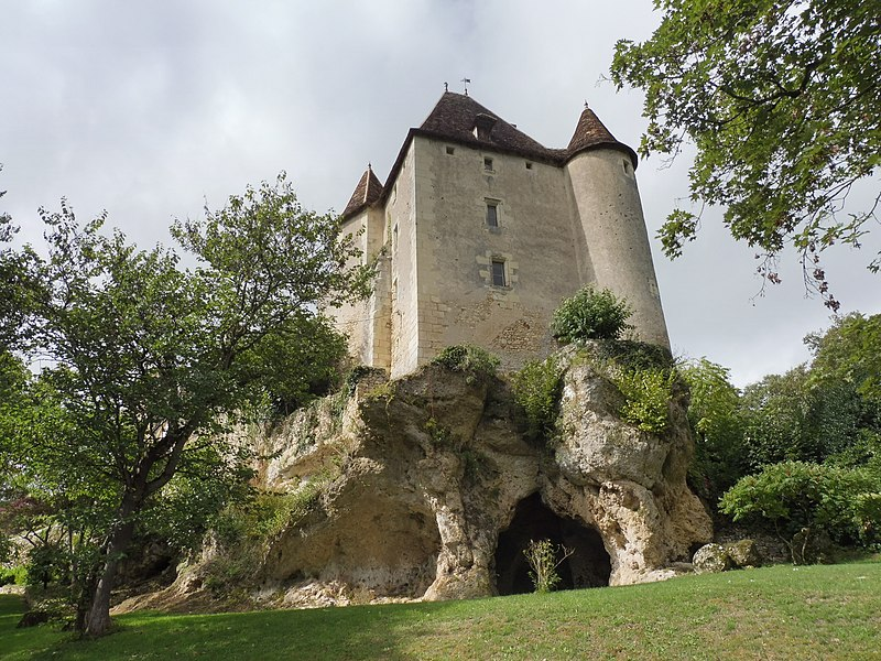Photo du Monument Historique Château de Jutreau situé à Saint-Pierre-de-Maillé