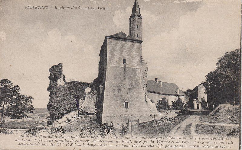 Photo du Monument Historique Château de Marmande situé à Vellèches