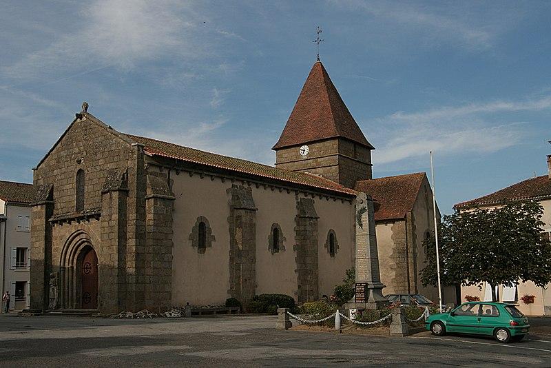 Photo du Monument Historique Eglise Saint-Maurice situé à Bussière-Poitevine