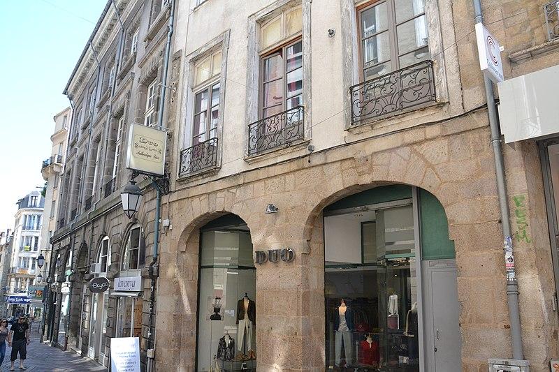 Photo du Monument Historique Ancien hôtel Bourdeau de Lajudie situé à Limoges