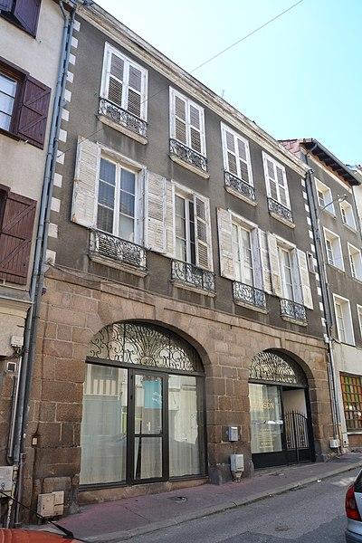 Photo du Monument Historique Maison situé à Limoges