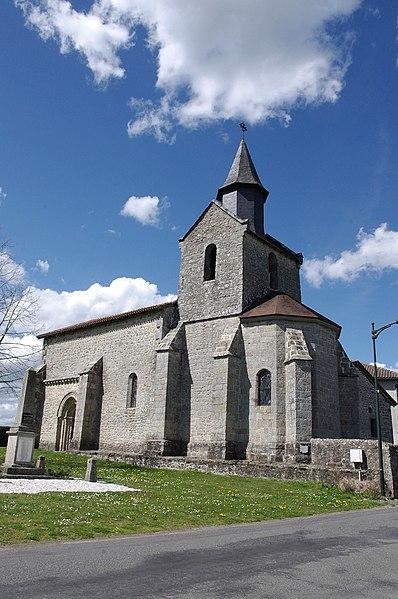 Photo du Monument Historique Eglise de l'Assomption de la Très-Sainte-Vierge de Milhaguet situé à Marval