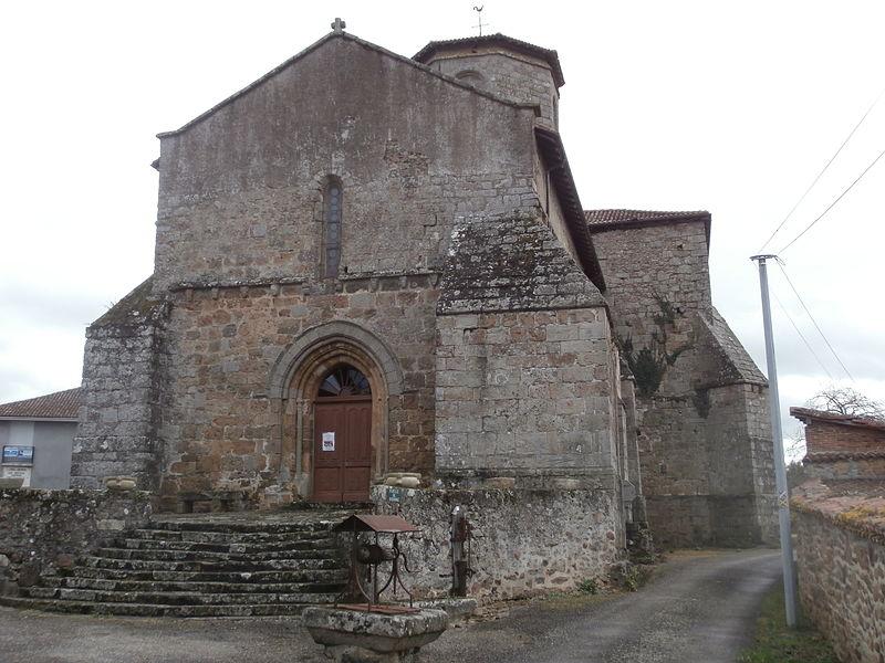 Photo du Monument Historique Eglise de Biennat situé à Rochechouart