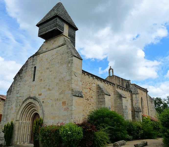 Photo du Monument Historique Eglise Saint-Martin situé à Saint-Martin-de-Jussac