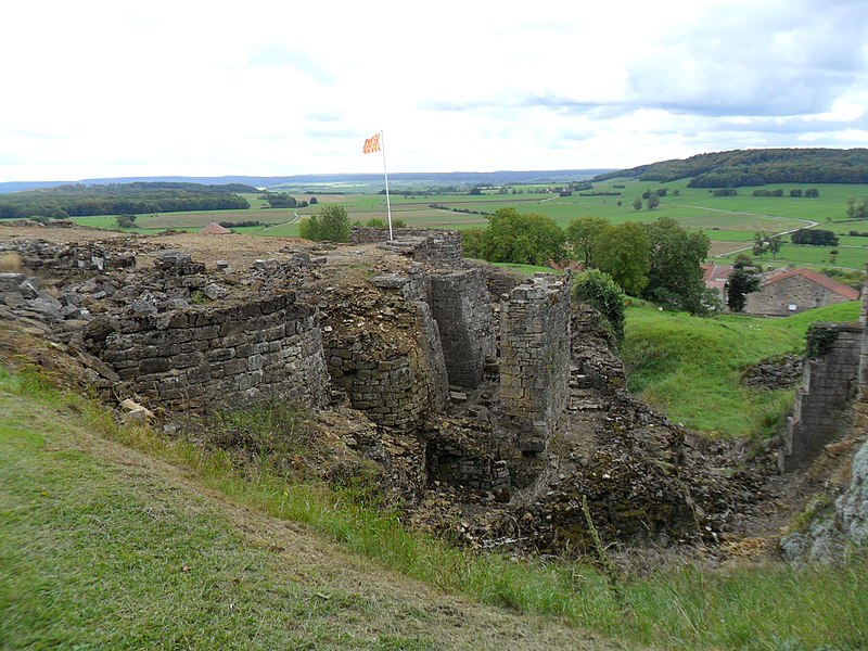 Photo du Monument Historique Vestiges du château situé à Beaufremont