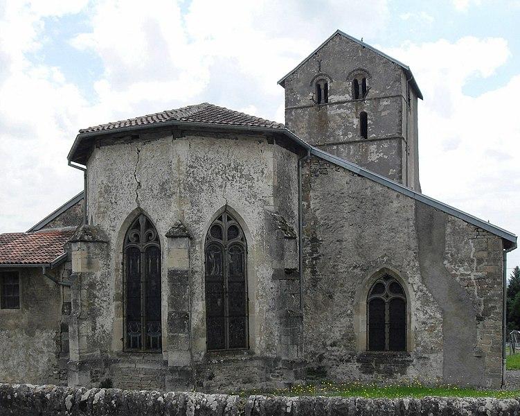 Photo du Monument Historique Eglise Saint-Georges et son cimetière situé à Bouzemont
