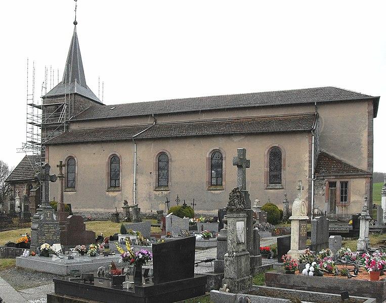 Photo du Monument Historique Eglise du hameau de Saint-Jacques situé à Chapelle-devant-Bruyères (La)