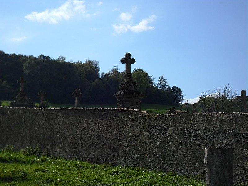 Photo du Monument Historique Cimetière situé à Dolaincourt
