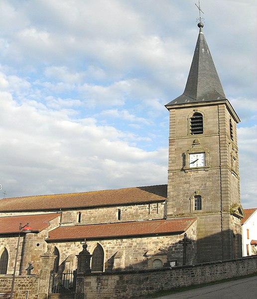 Photo du Monument Historique Eglise Saint-Brice situé à Dombrot-le-Sec
