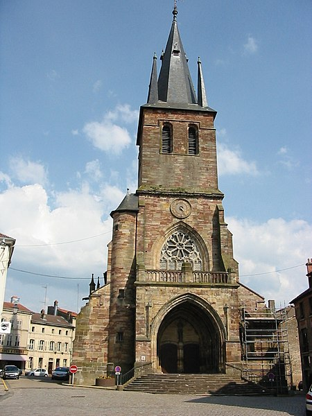 Photo du Monument Historique Eglise Sainte-Libaire situé à Rambervillers