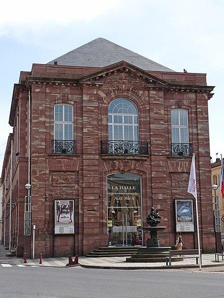 Photo du Monument Historique Ancienne halle aux grains et théâtre situé à Raon-l'Etape