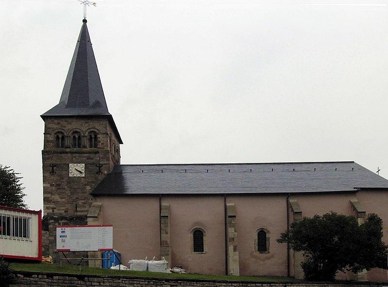 Photo du Monument Historique Eglise Saint-Rémi, autrefois église Saint-Hilaire situé à Remoncourt