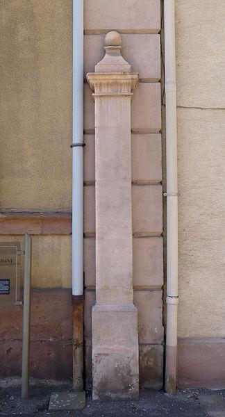 Photo du Monument Historique Pilori des princes de Salm situé à Senones