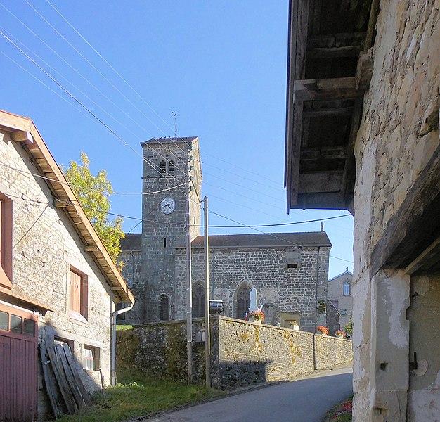 Photo du Monument Historique Eglise situé à Serécourt