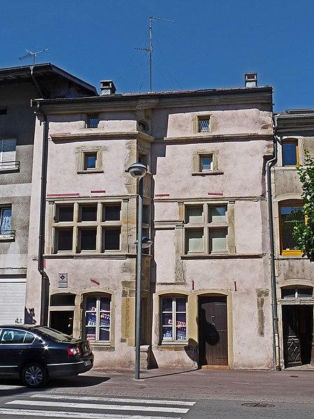 Photo du Monument Historique Immeuble situé à Rambervillers