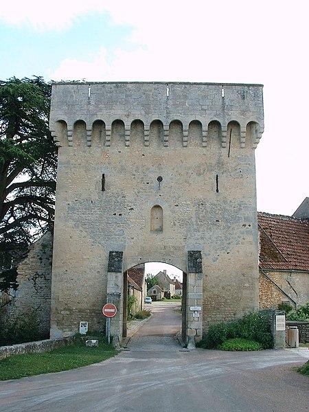 Photo du Monument Historique Porte de ville situé à Druyes-les-Belles-Fontaines