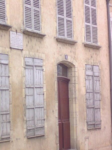 Photo du Monument Historique Maison Joseph-Joubert situé à Villeneuve-sur-Yonne