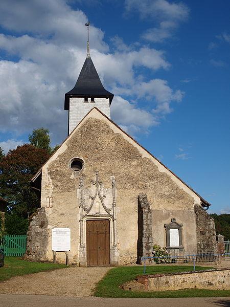 Photo du Monument Historique Ancienne église Saint-Loup à la Villotte situé à Villiers-Saint-Benoît