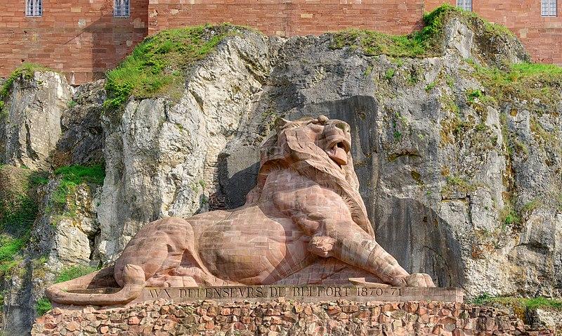 Photo du Monument Historique Lion sculpté par Bartholdi situé à Belfort