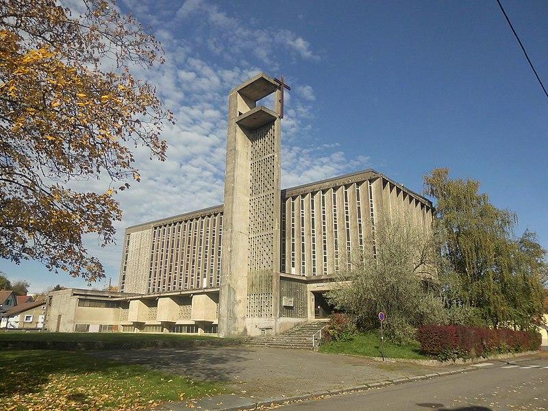 Photo du Monument Historique Eglise Sainte-Jeanne-d'Arc situé à Belfort