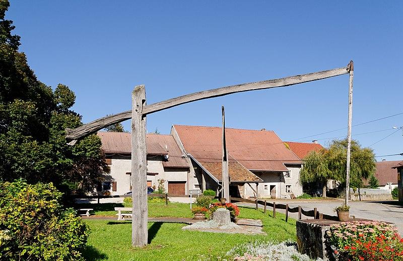Photo du Monument Historique Puits à balancier situé à Croix