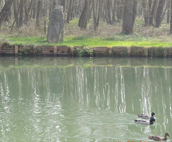 Photo du Monument Historique Menhir de Pierre-Fritte situé à Boussy-Saint-Antoine