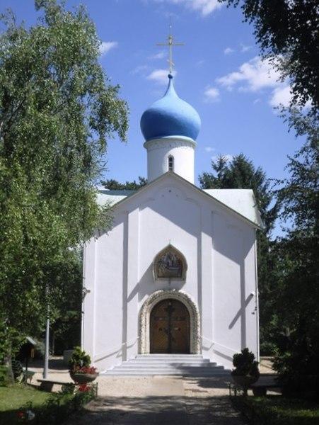 Photo du Monument Historique Eglise orthodoxe russe Notre-Dame-de-l'Assomption situé à Sainte-Geneviève-des-Bois