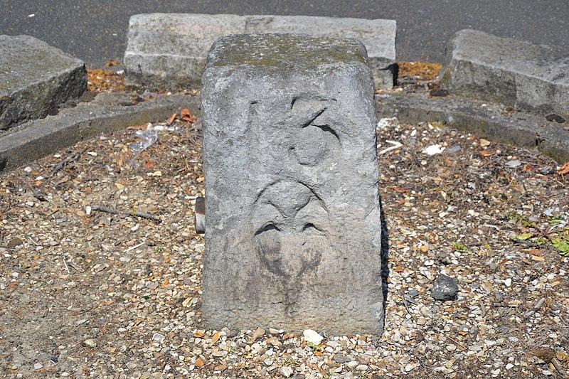 Photo du Monument Historique Borne à fleur de lys n° 13 situé à Sainte-Geneviève-des-Bois
