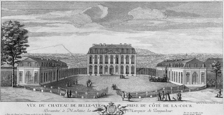 Photo du Monument Historique Domaine de Bellevue : ancien château situé à Meudon