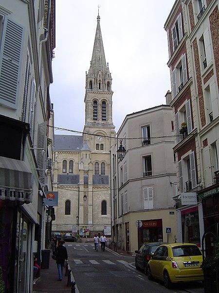 Photo du Monument Historique Eglise du Centre ou Saint-Clodoald situé à Saint-Cloud