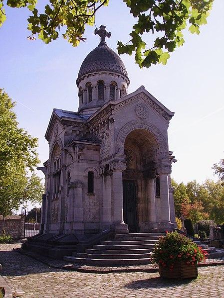 Photo du Monument Historique Chapelle funéraire de Jules Hunebelle, située dans le cimetière communal situé à Clamart