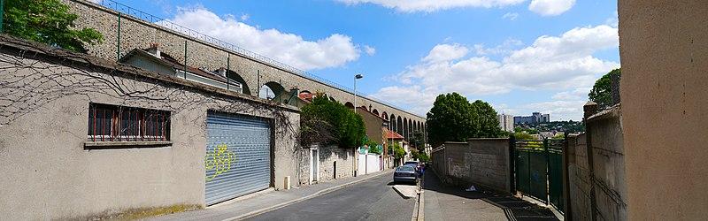 Photo du Monument Historique Aqueduc des Eaux de Rungis (également sur communes de Rungis, Fresnes, L'Hay-les-Roses, Cachan, Gentilly et Paris 14) situé à Arcueil