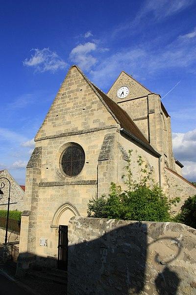Photo du Monument Historique Eglise de Villeneuve-Saint-Martin situé à Ableiges