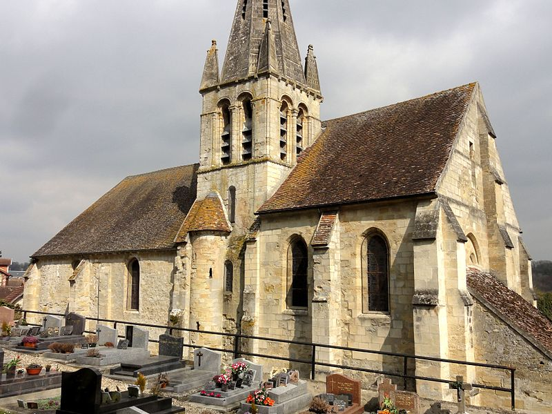 Photo du Monument Historique Eglise situé à Courcelles-sur-Viosne