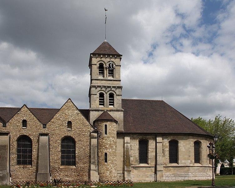 Photo du Monument Historique Eglise prieurale et paroissiale de Saint-Eugène situé à Deuil-la-Barre