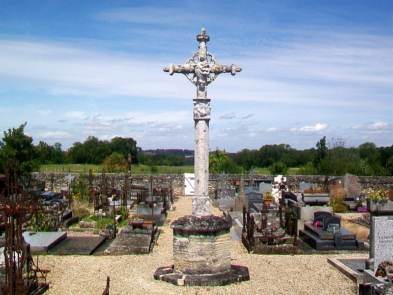 Photo du Monument Historique Croix de cimetière situé à Genainville