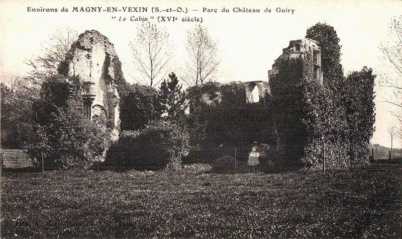 Photo du Monument Historique Château  dit Le Cabin situé à Guiry-en-Vexin