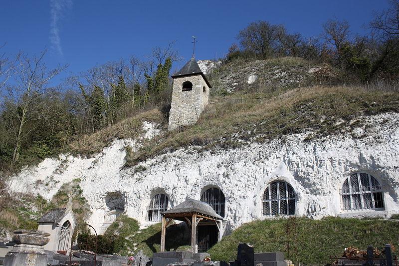 Photo du Monument Historique Eglise troglodytique de l'Annonciation situé à Haute-Isle