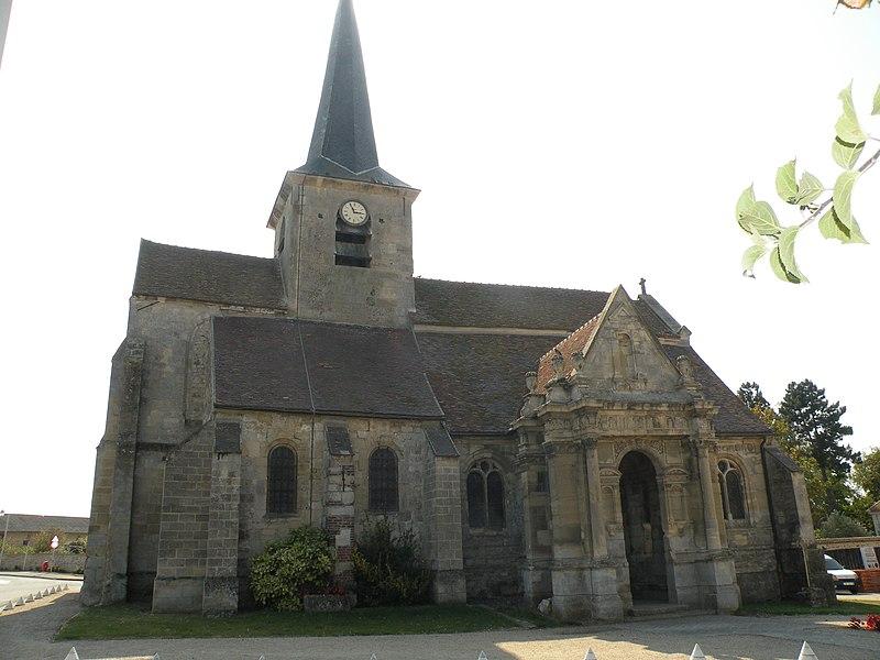 Photo du Monument Historique Eglise de la Nativité de la Vierge et Saint-Fiacre situé à Livilliers