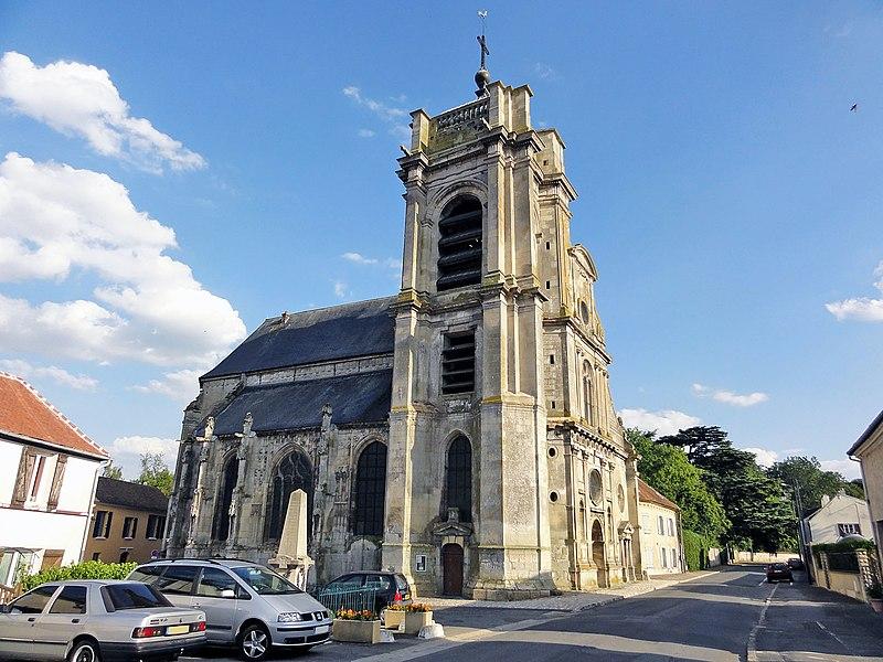 Photo du Monument Historique Eglise situé à Mesnil-Aubry (Le)