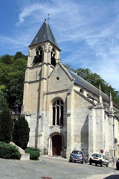 Photo du Monument Historique Eglise Saint-Samson situé à La Roche-Guyon