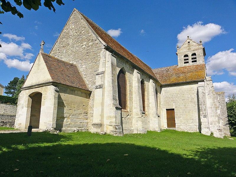 Photo du Monument Historique Eglise Saint-Romain situé à Wy-dit-Joli-Village