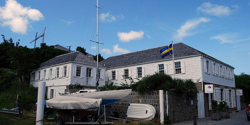 Photo du Monument Historique Maison Dinzey, dite Le Brigantin, à Gustavia situé à Saint-Barthélemy