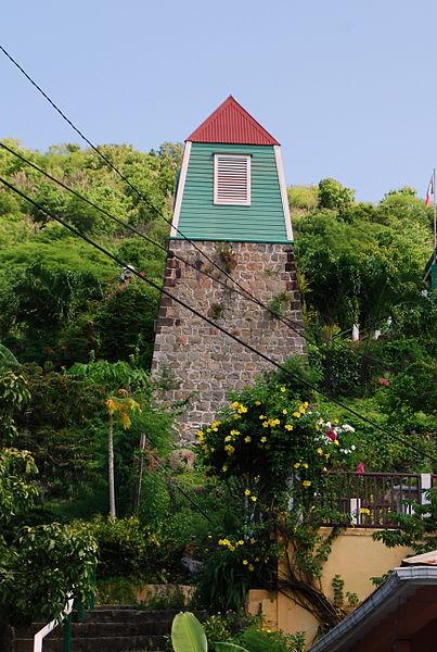 Photo du Monument Historique Clocher suédois de Gustavia situé à Saint-Barthélemy