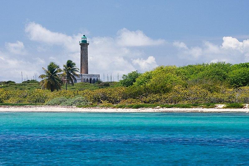 Photo du Monument Historique Phare de l'îlet de Petite-Terre situé à La Désirade