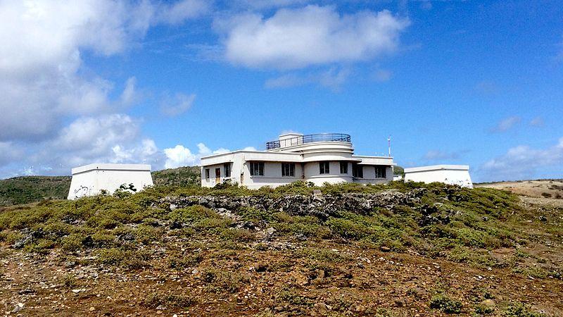 Photo du Monument Historique Station météorologique, située à la pointe des châteaux sur l'île de la Désirade situé à La Désirade