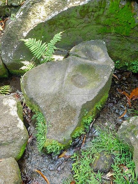Photo du Monument Historique Ensemble de polissoirs et de roches gravées, situés dans la rivière du petit Carbet situé à Trois-Rivières